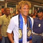 Diego Forlan arriva all'Inter